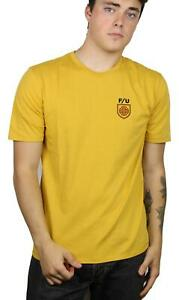 Brixton-x-Independent-Mens-Hedge-Premium-S-S-T-Shirt-Yellow-M-New