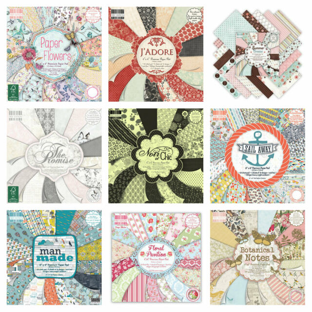 FIRST EDITION 6X6 PAPER SAMPLE PACK X16 SHEETS -CHOICE OF DESIGNS - BUY 2 & SAVE