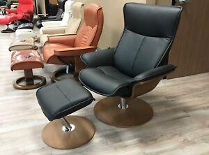 Surprising Details About New Fjords Spirit Leather Swivel Recliner Chair Norwegian Scandinavian Lounger Ibusinesslaw Wood Chair Design Ideas Ibusinesslaworg