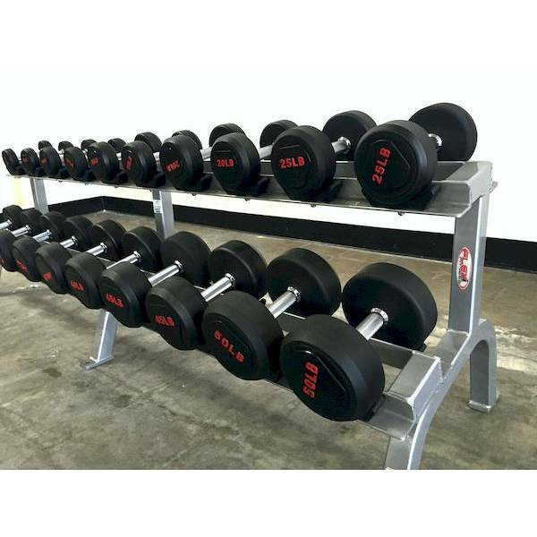 SPARTAN 5-50 LBS Premium RUBBER DUMBBELL SET (NEW IN BOX)