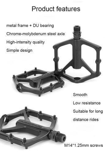 PROMEND Mountain Road Bike Pedal Lightweight Aluminium Alloy DU Bearing Pedals