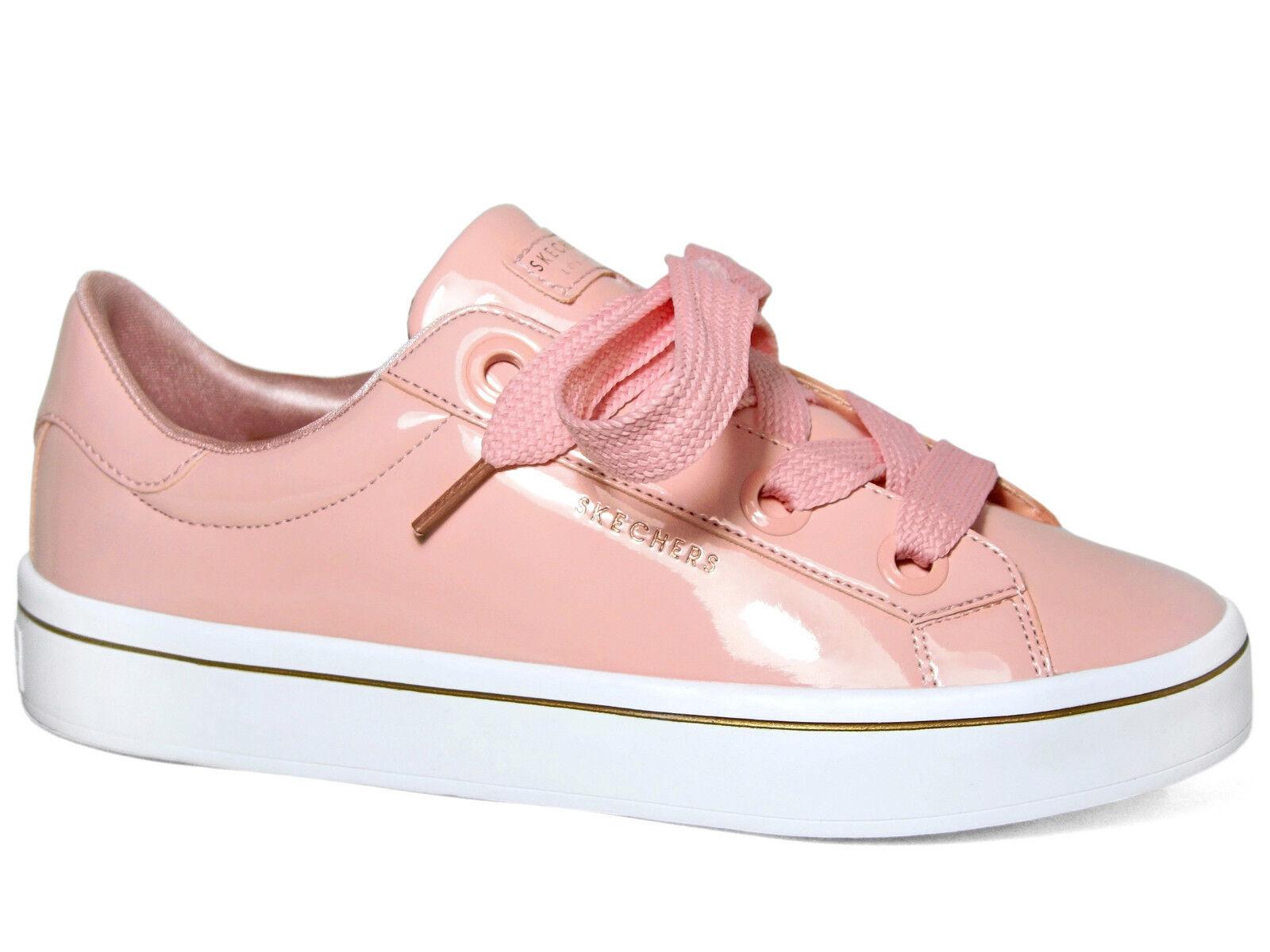 Skechers Hi-Lites Slick Schuhes Lack Sneakers Pink / Rosa 959/LTPK Damen Schuhe