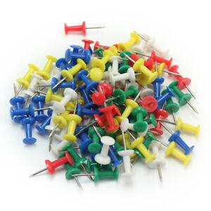 100pcs-Pin-Wand-Nadeln-bunt-gemischt-fuer-Pinwand-Push-Pins-farbig-Stoss-LQO
