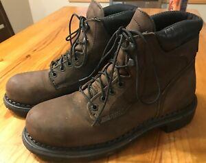 Red-Wing-4406-Men-039-s-6-034-Steel-Toe-Brown-Waterproof-Leather-Work-Boot-8-D-USA