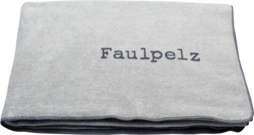 David Fussenegger Decke Kuscheldecke Plaid Verona Faulpelz grau 150 x 200 cm neu