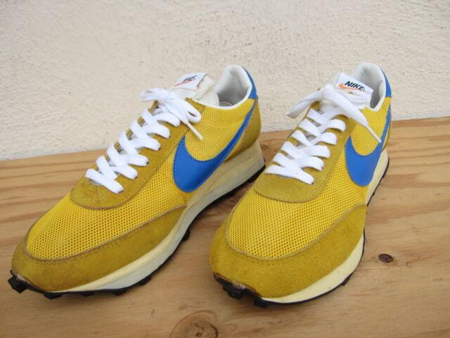 separation shoes 98d41 126c6 clearance vtg 70s mens nike ldv orange swoosh waffle sneakers sz 9 yellow  blue usa 06db3