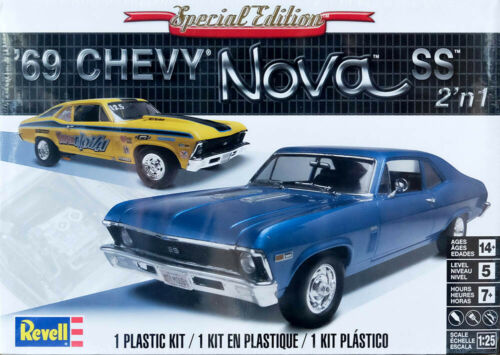 1969 Chevy Nova SS 2/'n1 Chevrolet 1:25 Model Kit Bausatz Revell 2098
