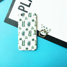 Creative Summer Ice Cream Cactus Ring Soft Case Cover Skin For iPhone 6 6S Plus