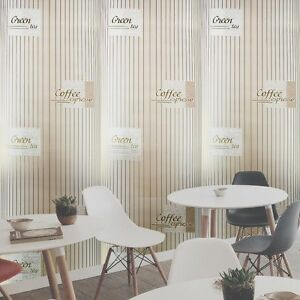 Image Is Loading Coffe Vinyl Textured Wallpaper Column Illusion Gold Kitchen