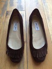 Jimmy Choo Fringe Tassel Suede Moccasins Flat Shoes EU 39 UK 6 US 9