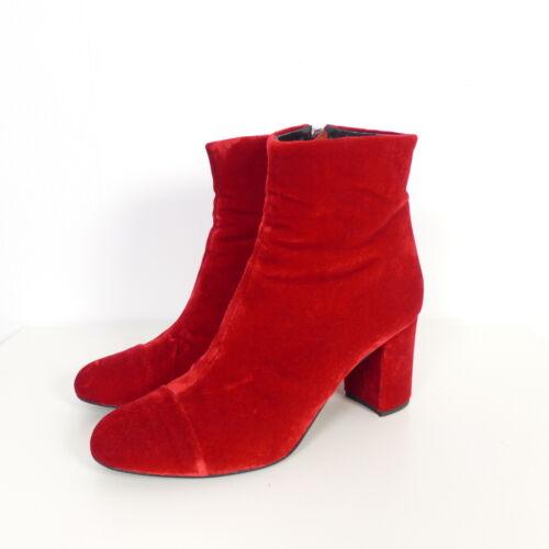 39 Gr Morobe euros Red Bottines Velvet q7g6I