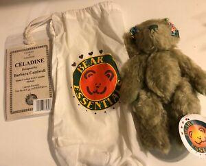 Bear-Essentials-9-MOHAIR-Teddy-Bear-034-Celadine-034-Limited-Ed-By-Barbara-Cardwel