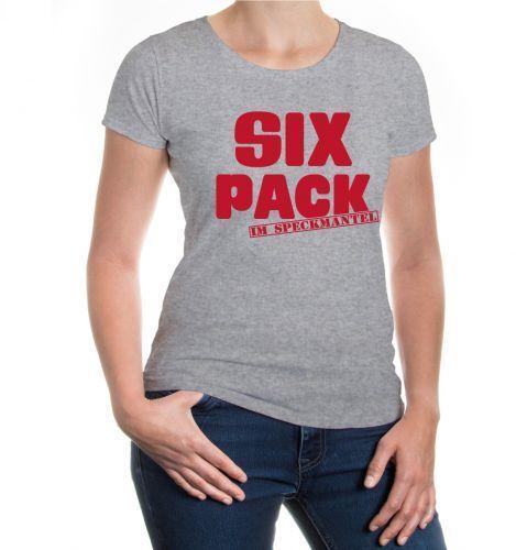 Da Donna a Maniche Corte malvagia T-shirt SixPack nel speck Cappotto Body Fitness morbide personaggio