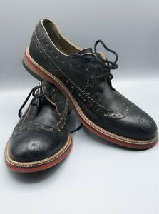Fly London Men's Wing Tip Shoes Black
