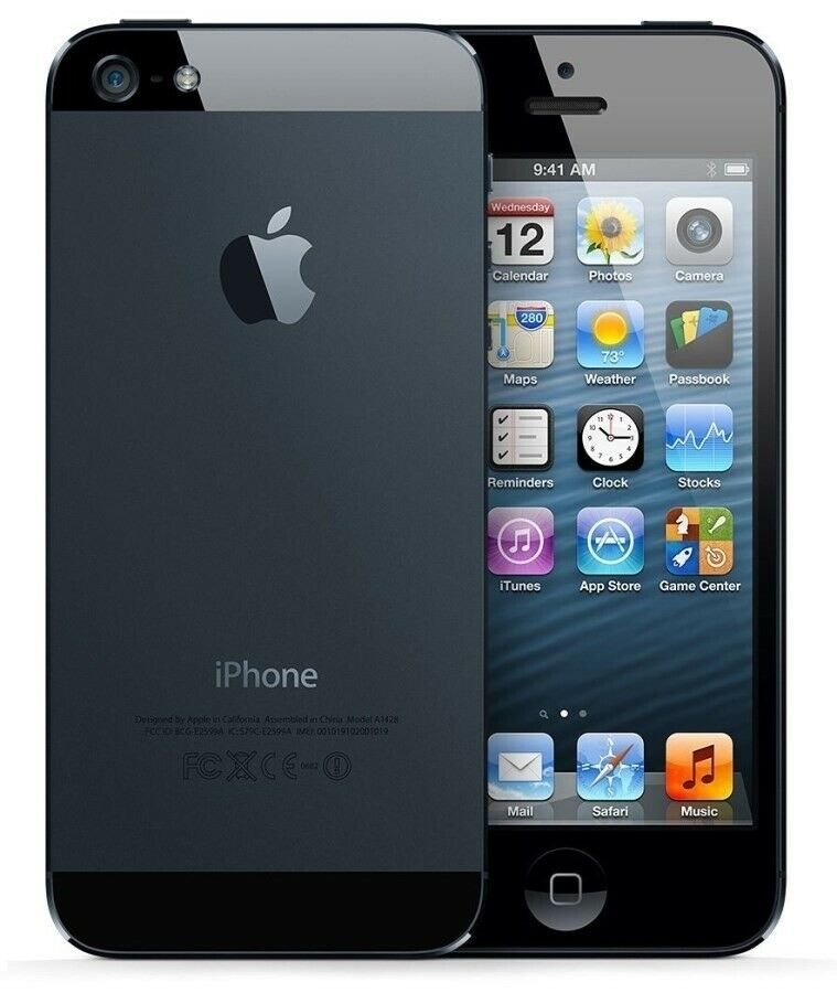 iPhone 5, GB 16, sort