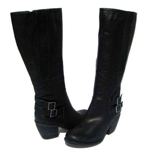 Women's Knee High Fashion Snow BOOTS Hoshi-12 Black Winter Snow Fashion shoes Ladies size 8.5 17724b