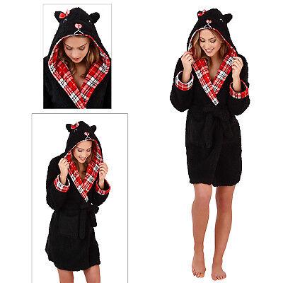 Verantwortlich Loungeable Womens Scotty Dog 3d Robe Ladies Super Soft Knee Length Dressing Gown Kaufen Sie Immer Gut