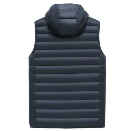 Coat Hooded Faux Fur Overcoat Outwear Padded Jacket Warm Men/'s Cotton Thicken