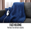thumbnail 8 - Electric Heated Throw Blanket Indoor Outdoor Winter Plush Washable Rug 200x180cm