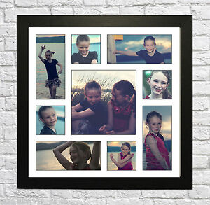your 9 photo picture collage montage framed print personalised