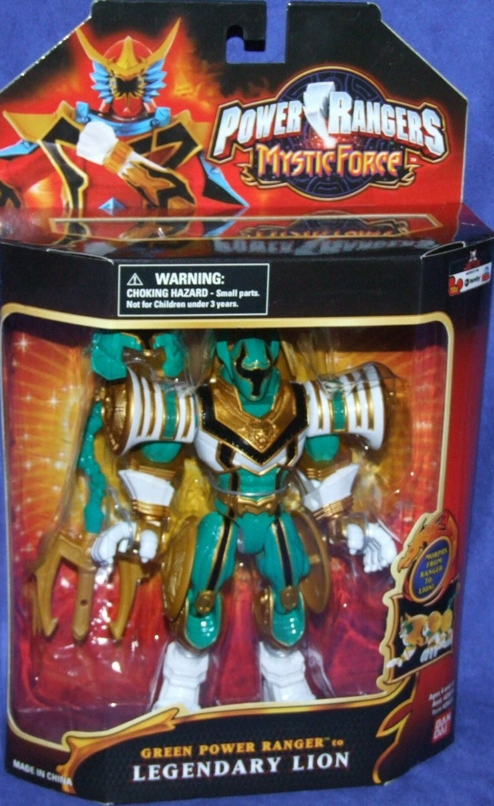 Power Rangers Mystic Force Grün Power Ranger to Legendary Lion New 7