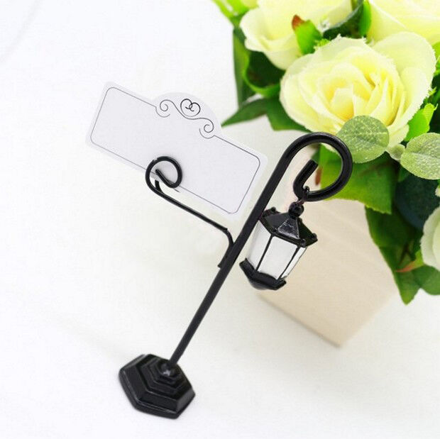 1 pc Street lamp Place Card Name Holders Table Number Decoration Wedding Favors