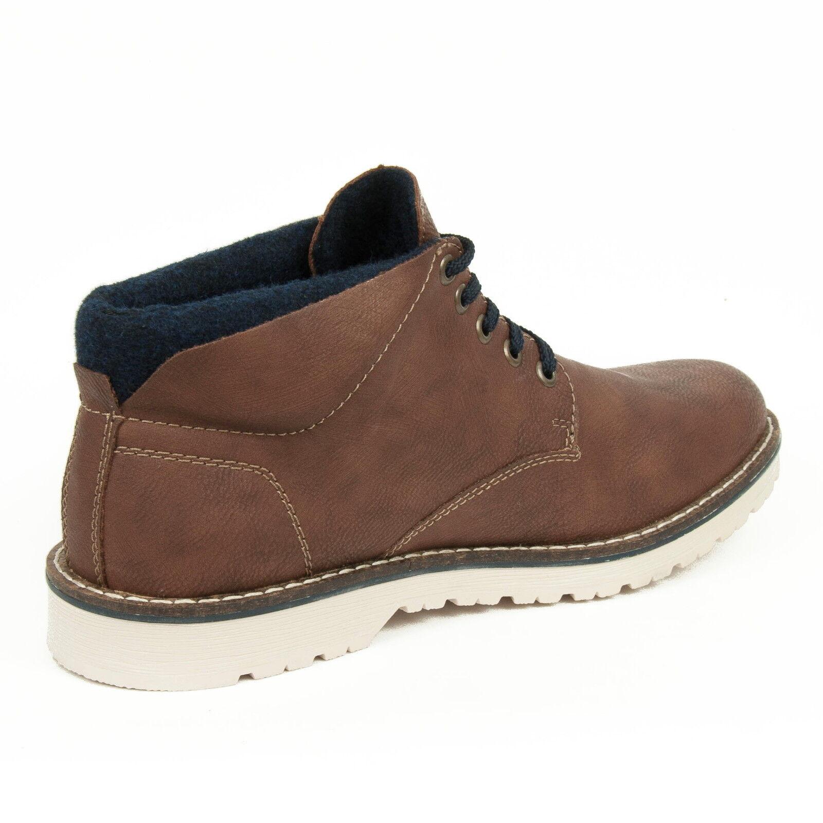bb3be7392f43f ... Rieker Zapatos Hombre Hombre Hombre Botas con Cordones Botas Forro  Polar Marrón Combi 39234-24 ...