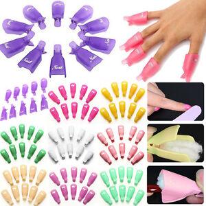 10PCS-plastico-Arte-en-Unas-Soak-Off-Gel-UV-Removedor-De-Esmalte-Envoltura-Gelish-Clip-Gorra-De