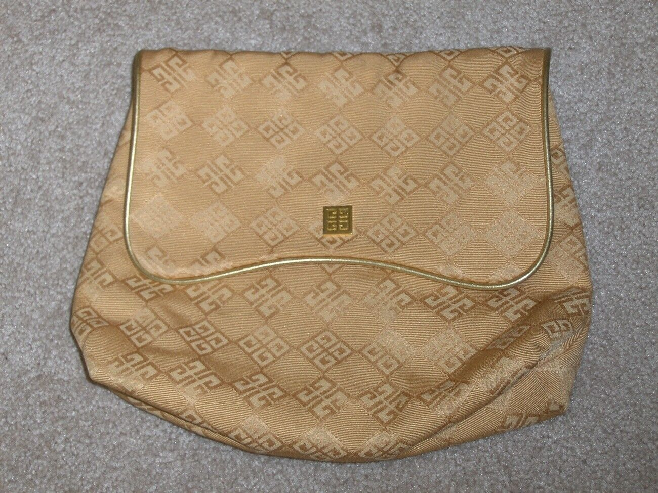 Givenchy Gold Clutch Handbag Cosmetic Bag Travel Carry