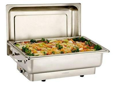 Full Size De Luxe Highly Polished Stainless Steel Chafer Chafing Set 13.5ltrs