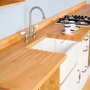 Tischplatte Premium Buche 4000mm X 620mm X 40mm Massivholz Küchen ...