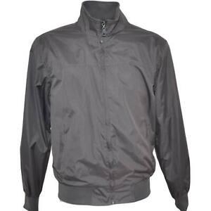 Giubbotto giacca uomo grigio paravento con zip frontale impermeabile con elastic