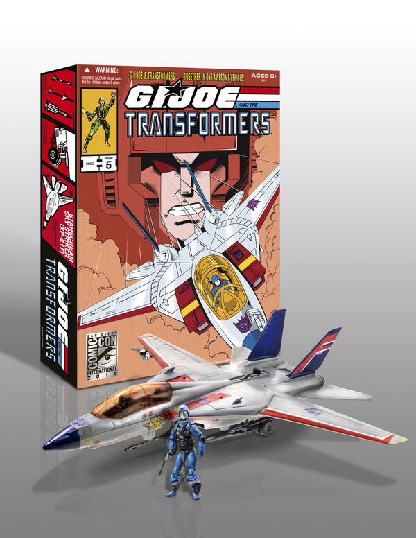 SDCC 2011 Hasbro Exclusive  GI Joe & TF - Skystriker Starscream Cobra Commander