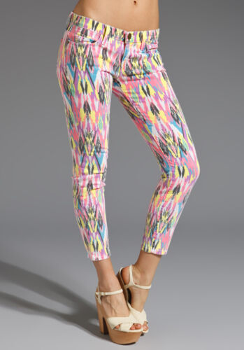 NWT Current//Elliott The Stiletto skinny legging jeans in Neon Arrow