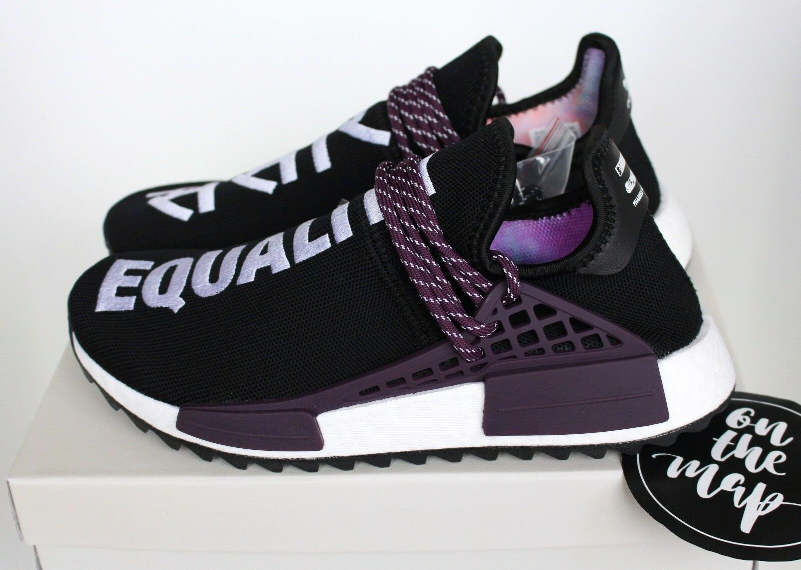 Adidas Pharrell Human Race HU Holi NMD Trail Black Purple 4 5 6 7 8 9 10 11 New