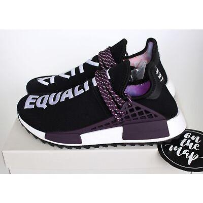 deec70e91 Adidas Pharrell Human Race HU Holi NMD Trail Black Purple 4 5 6 7 8 9