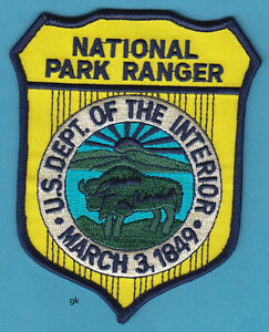 Image Is Loading NATIONAL PARK RANGER DEPT OF THE INTERIOR SHOULDER