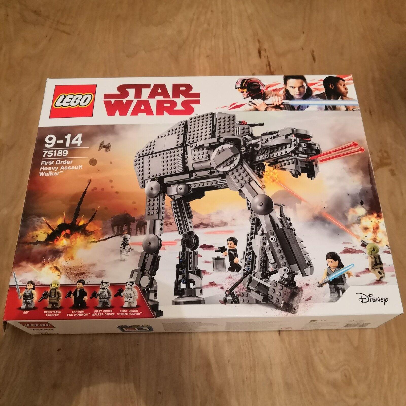 75189 LEGO STAR WARS de premier ordre Heavy Assault Walker-avec Walker-avec Walker-avec boite & Instructions a1068c