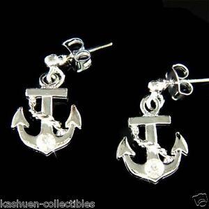 Anchor-Nautical-made-with-Swarovski-Crystal-Rhinestone-Yacht-Stick-Post-Earrings