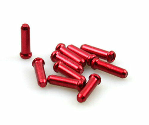 gobike88 Jagwire 1.8mm red inner cable end cap 398 10 pieces per set