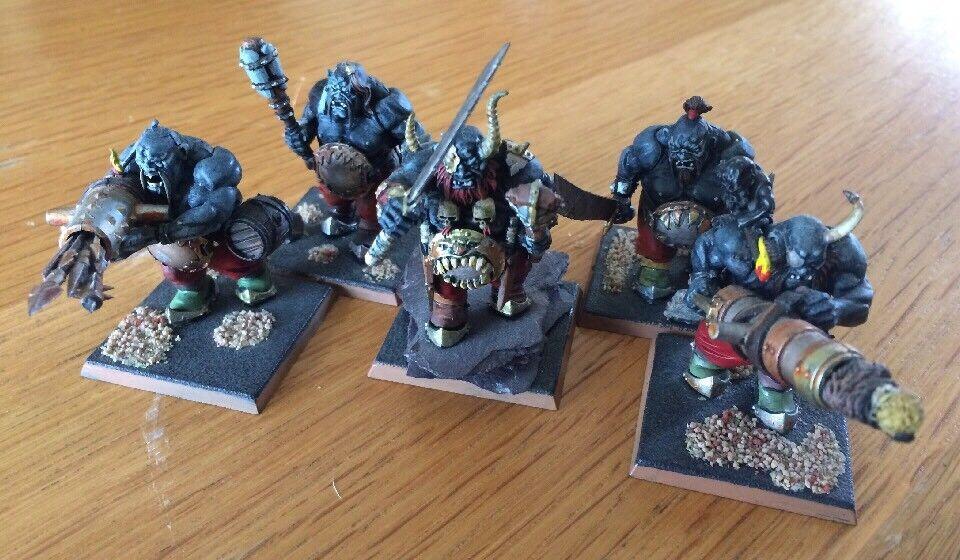 Warhammer 40k Ogre Kingdom Leadbelcher Gutbusters Miniatures Lot Of 5 PRO Paint