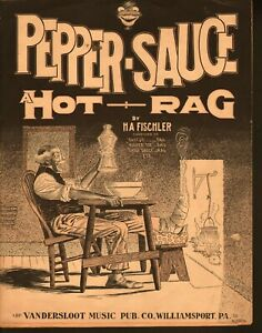 Pepper-Sauce-A-Hot-Rag-1910-Large-Format-Sheet-Music