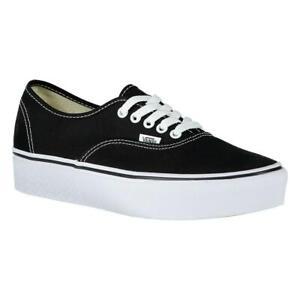 Details zu Vans Authentic Platform 2.0 Weiß|Schwarz T11987 Sneakers Frau Weiß|Schwarz Vans