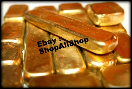97 Grams Melted Drops Scrap Gold Plated Pins For Recovery Not Solid Gold