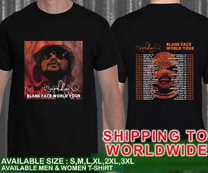 Schoolboy Q Blank Face World Tour Dates 2016 Unisex Black T Shirt Ebay