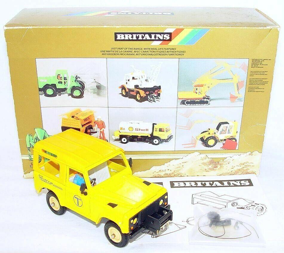 Britains Ltd 1 32 Road Serie Land Rover  British Telecom  Coche Top como NUEVO MIB`87