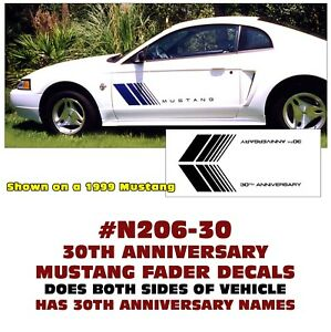 FUEL DOOR ACCENT DECAL N686 1999-04 FORD MUSTANG