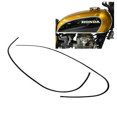 Honda CB 750 Four K0 K1 Aufkleber Zierstreifen Tank Dekor schwarz für Candy Gold