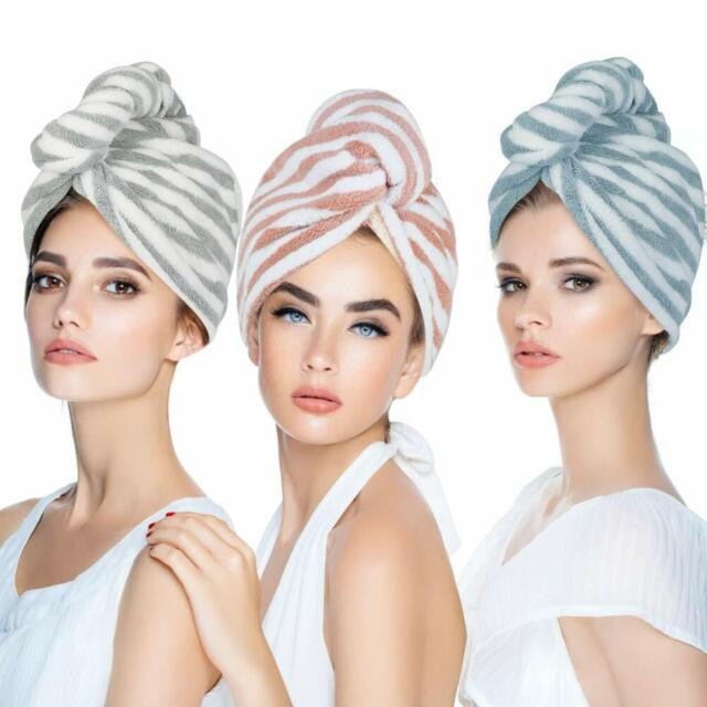 Microfiber Hair Turban Towel Wrap Super Absorbent Hair Towel For Kids And Adults