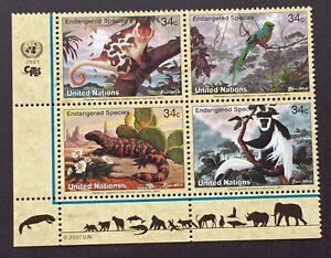 Briefmarke-Vereinten-Nationen-New-York-Yvert-Und-Tellier-N-839-Rechts-842-N